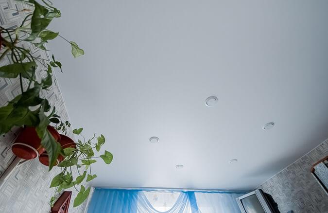 тканевый потолок в квартире
