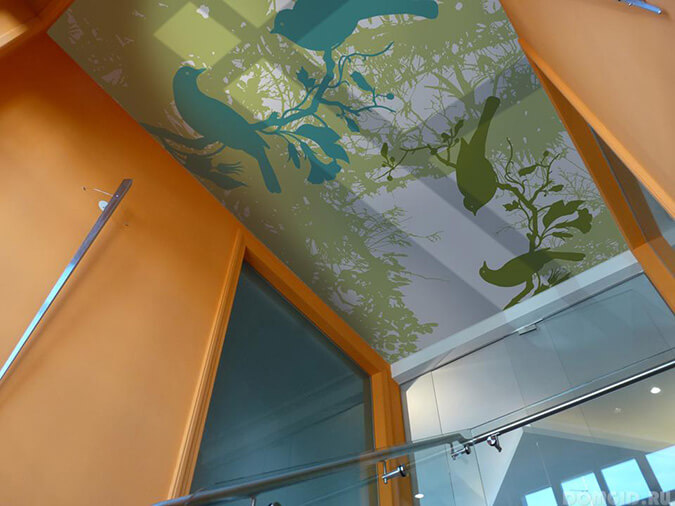 фотопечать на тканевом потолке