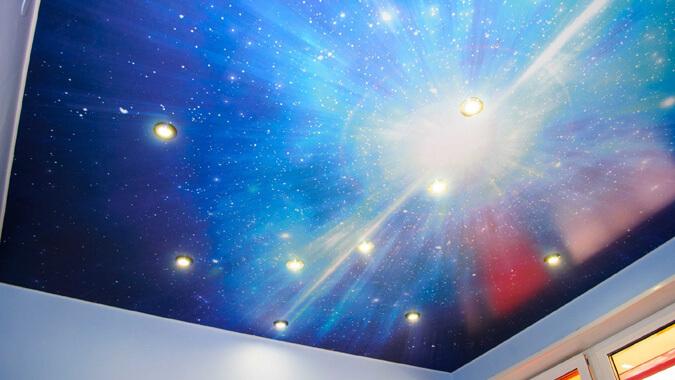 Фотопечать звёздное небо