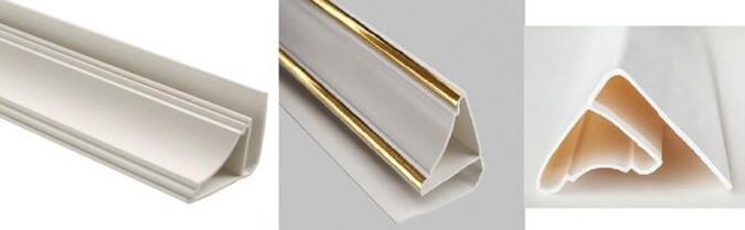 Пластиковый плинтус для натяжного потолка