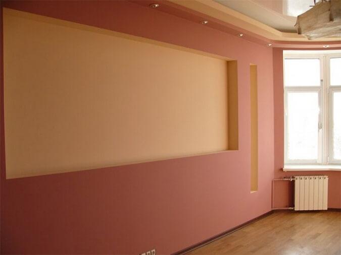 Натяжной потолок и гипсокартон в квартире