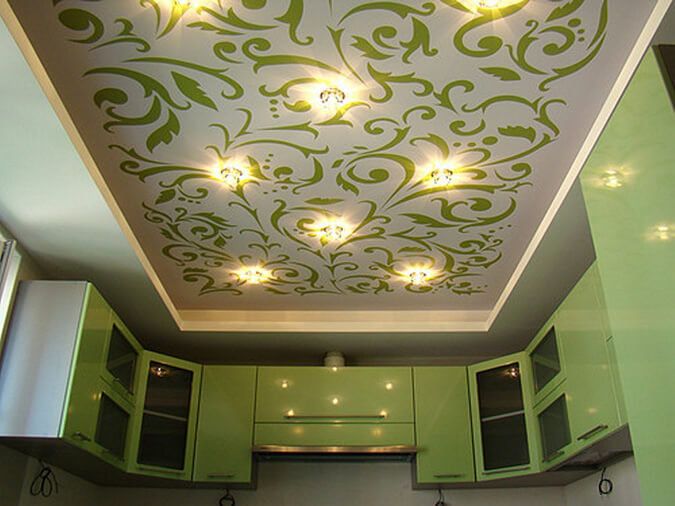 Тканевый натяжной потолок с фотепечатью