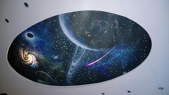 Натяжной потолок звёздное небо вариант реализаци
