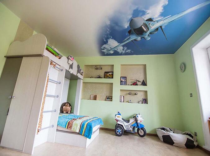 Натяжной потолок самолёт