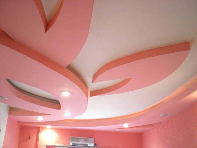 Гипсокартонный натяжной потолок