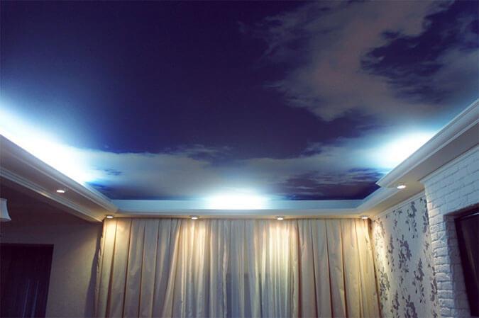 Плёнка для натяжного потолка с фотопечатью