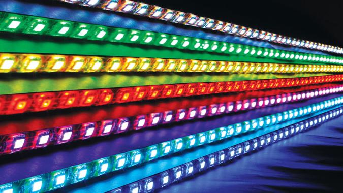 Светодиодная лента разных цветов