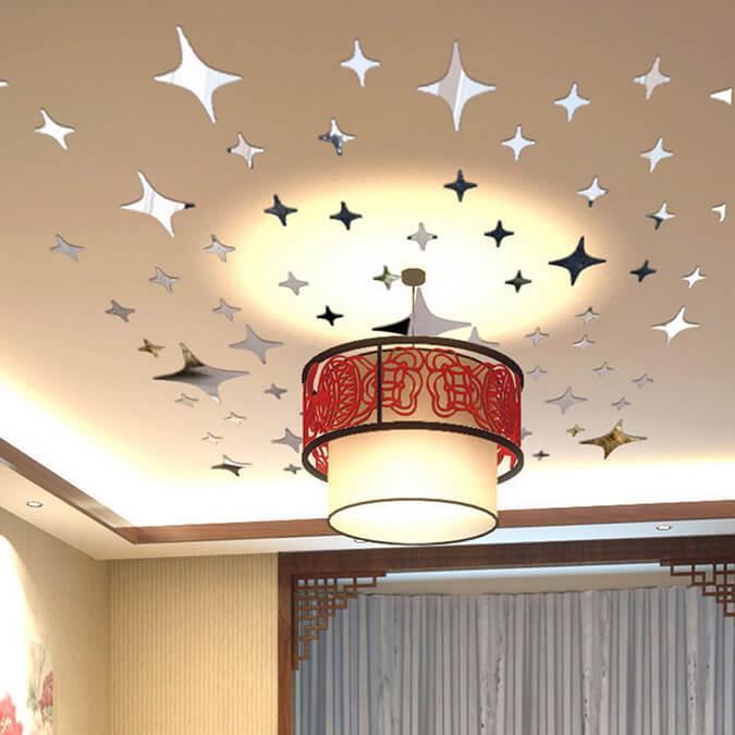 наклейки на потолок звёзды