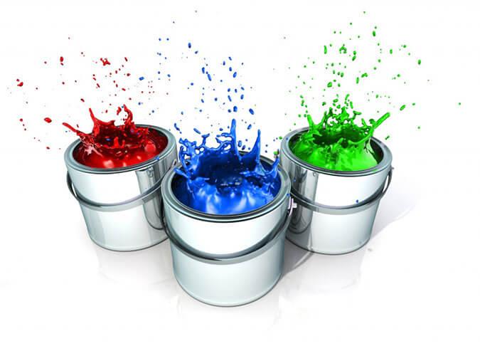 Три банки краски