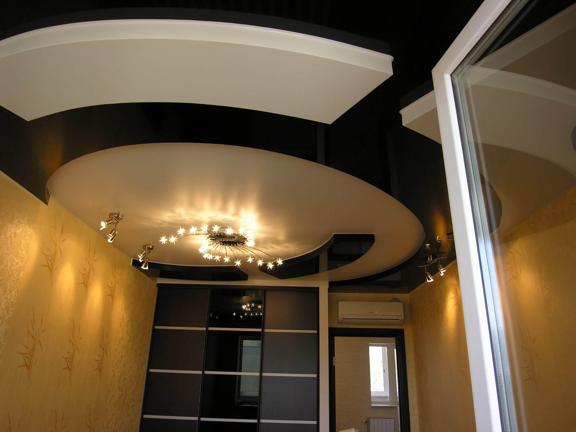многоуровневые натяжные потолки фото для зала внимание, что