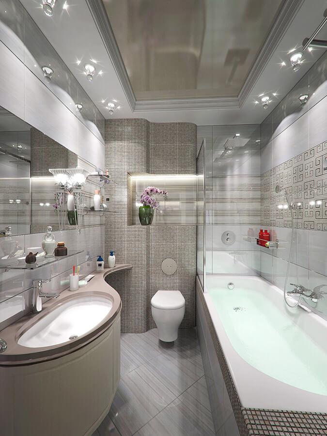 ПВХ потолки в ванной