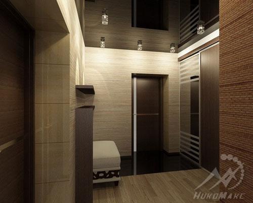 Визуальное увеличение пространства с помощью глянцевого потолка