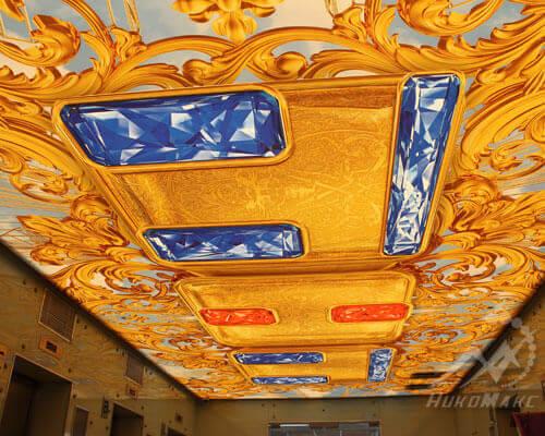 Натяжной потолок в офисе телеканала ТНТ