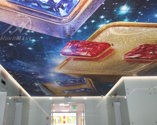Натяжной потолок на телевидении