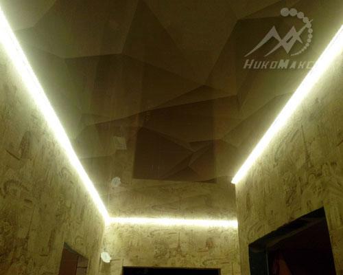 Светодиодная лента на натяжном потолке