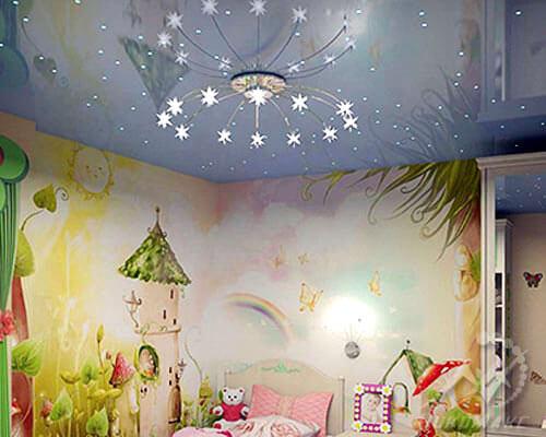 Фото натяжной потолок в детской с подсветкой