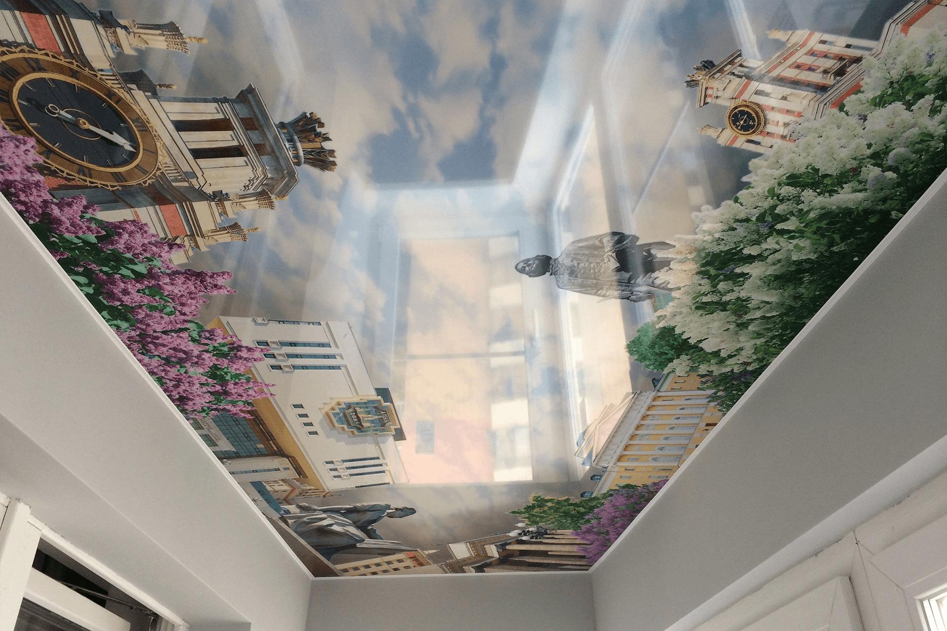 Фотопечать город на балконе