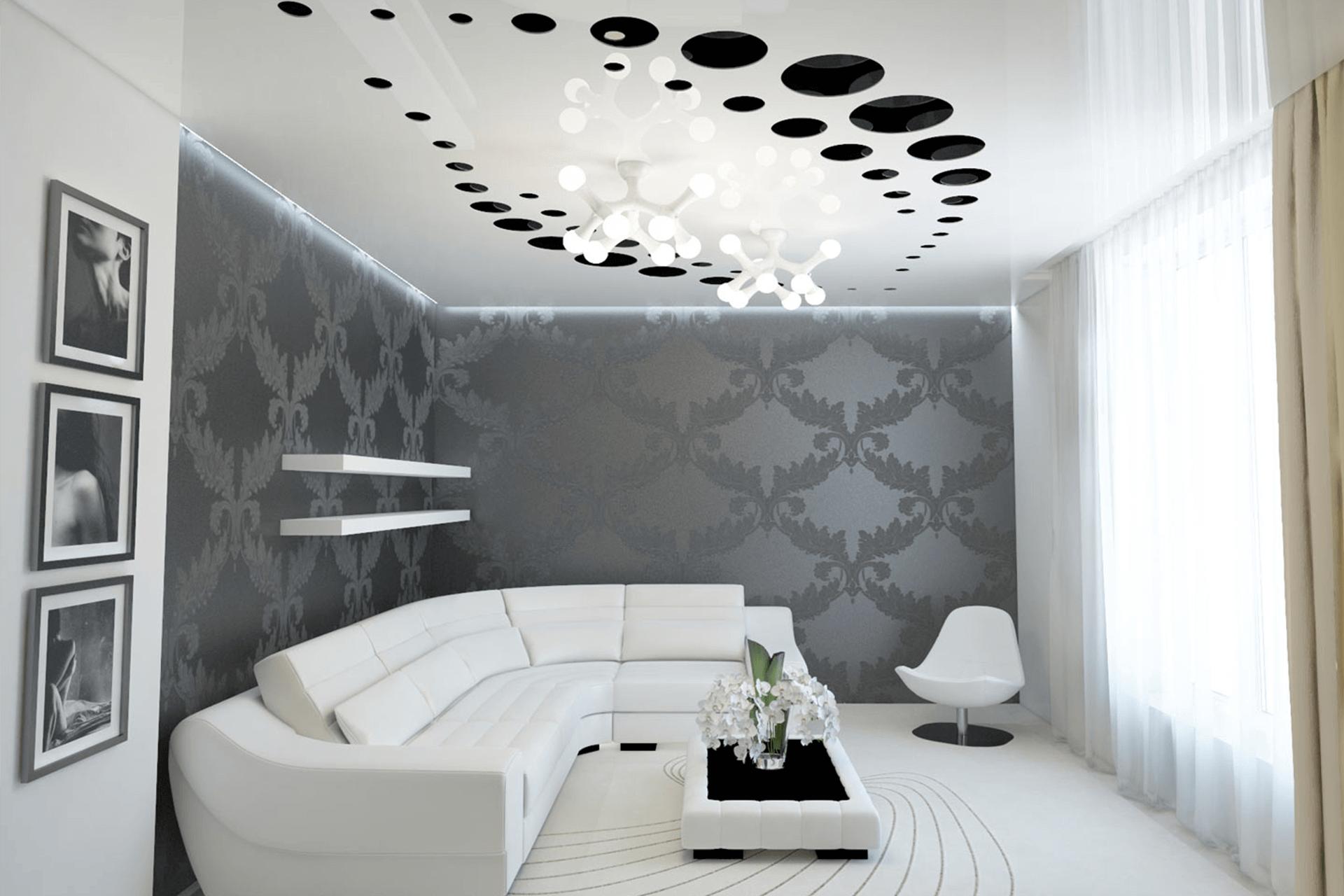 Перфорированный потолок в зале