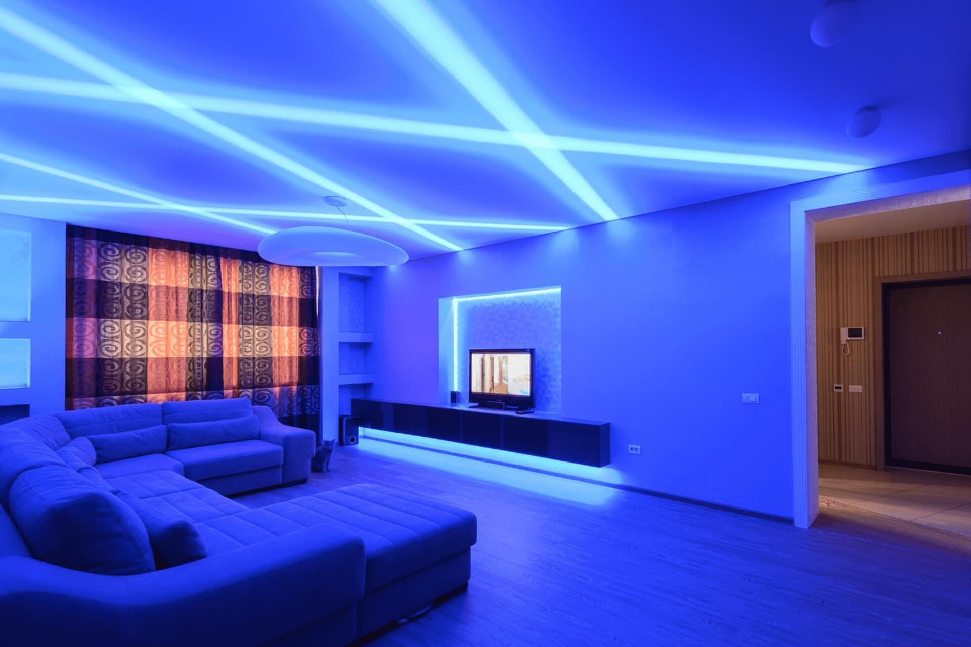 Световые линии в квартире - перескрещивающиеся