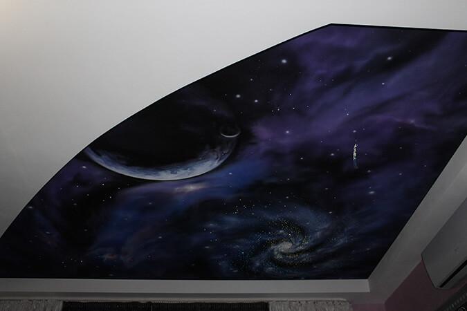 Потолки звёздное небо в комнате