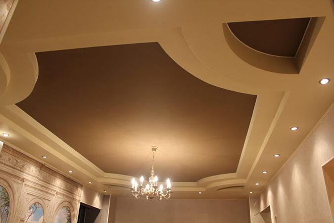 тканевый потолок в комнате