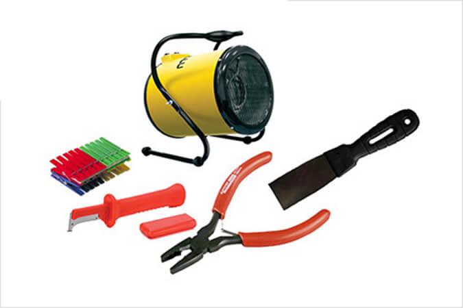 Инструменты для снятия натяжного потолка