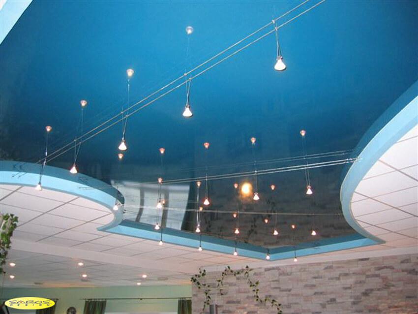 Натяжной и подвесной потолок в интерьере