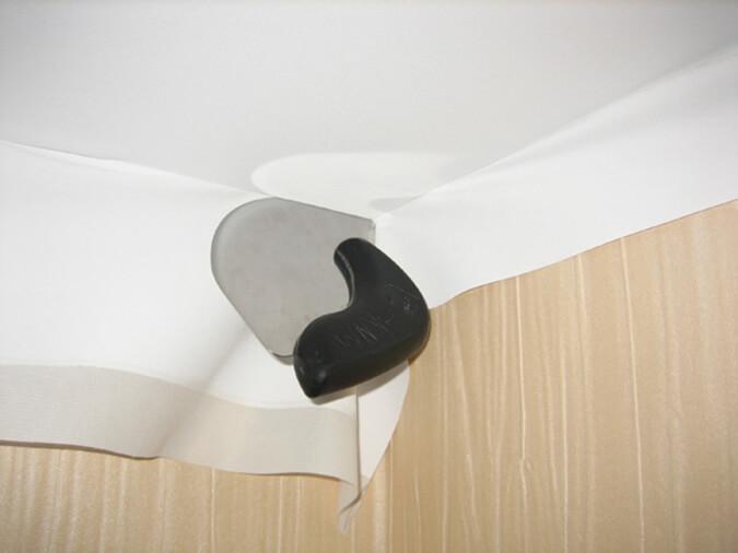 Установка натяжного потолка тканевого