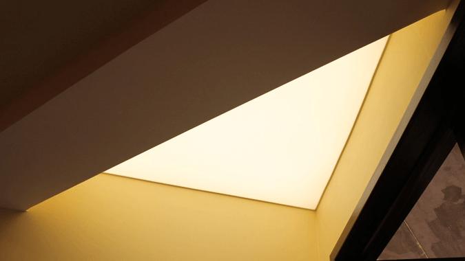 Светопрозрачный потолок на мансарде
