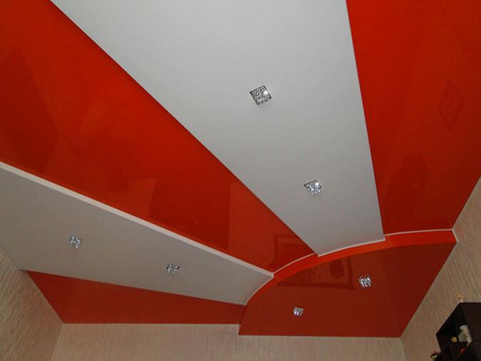 ПВХ потолок в виде солнца