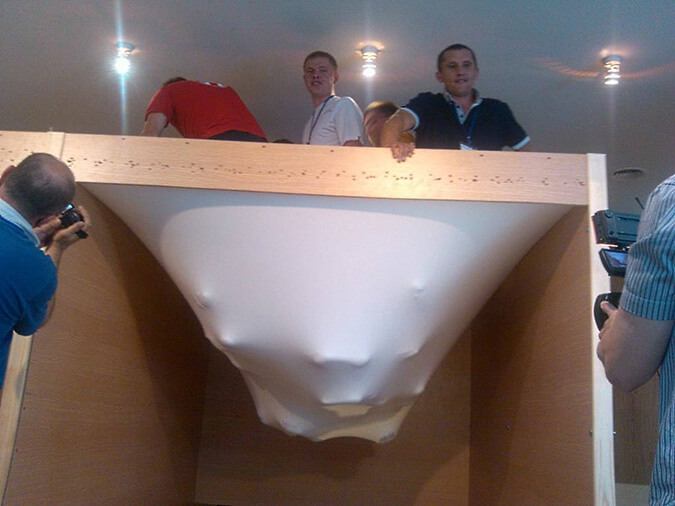 Эксперемент прочности потолка