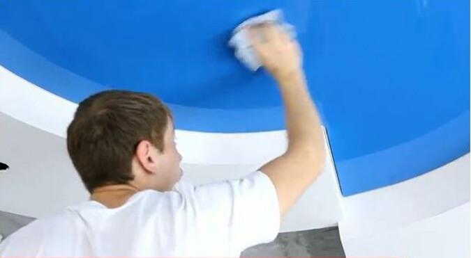 Моем синий потолок