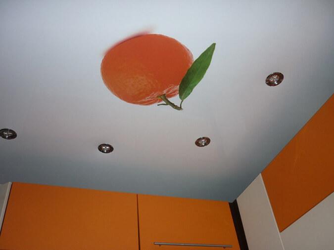 Апельсин фотопечать на кухне