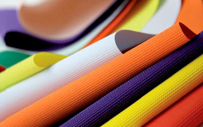 Тканевые цветные полотна