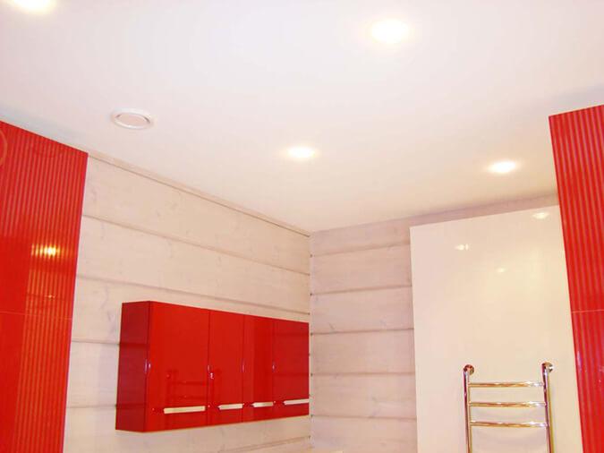 Тканевые натяжные потолки в ванной