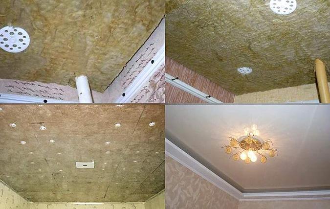 Звукоизоляция до и после установки потолка