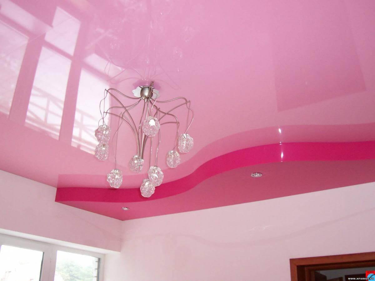 розовый двухуровневый