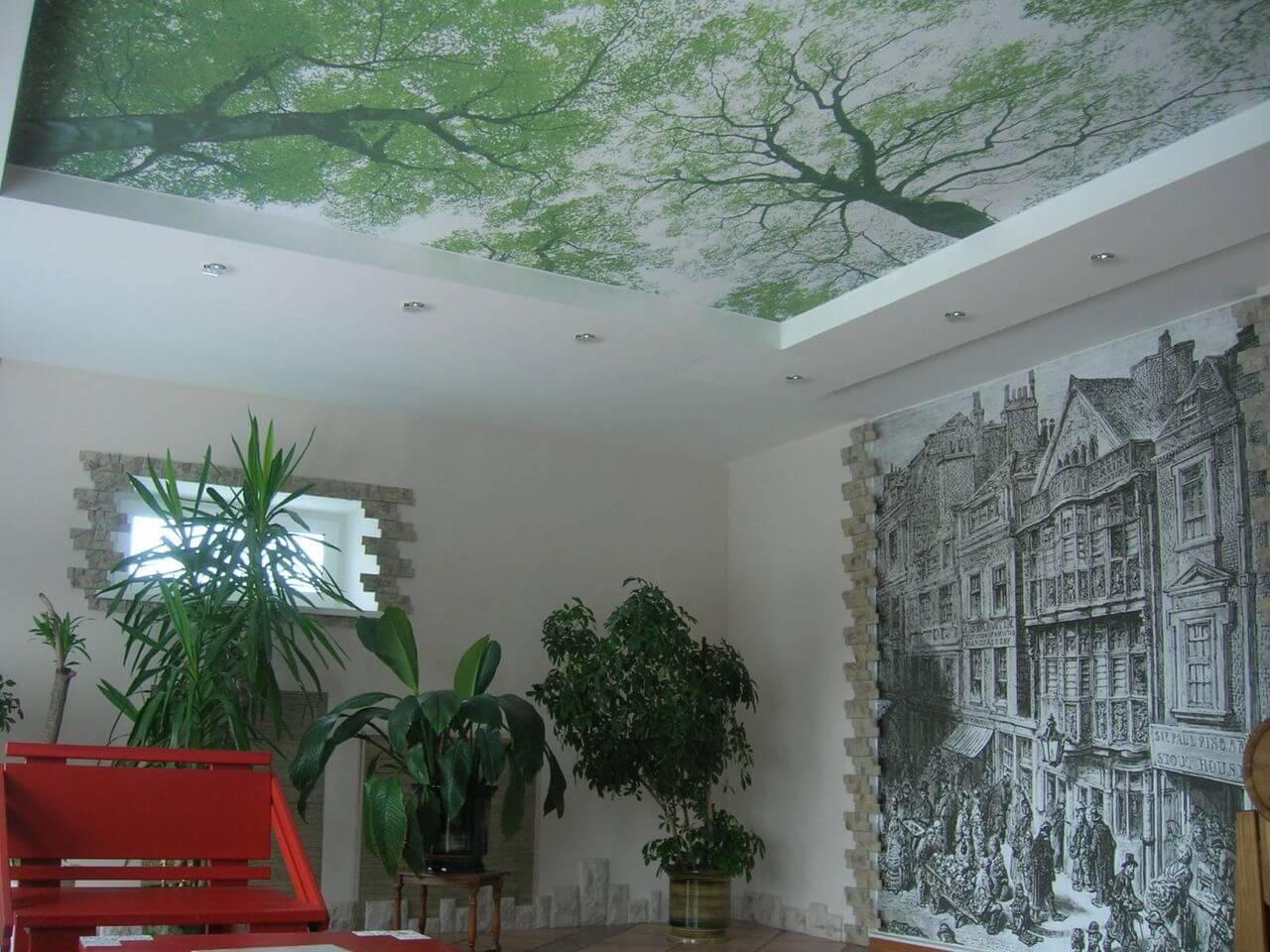 фотопечать на акустическом потолке